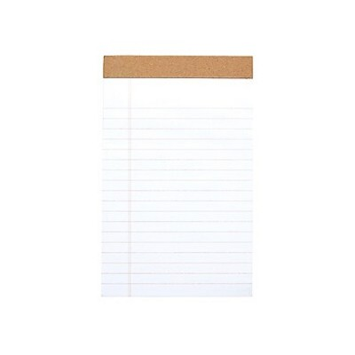 """MyOfficeInnovations Notepads 5"""" x 8"""" Wide White 50 Sheets/Pad 12 Pads/PK (19938) 886428"""