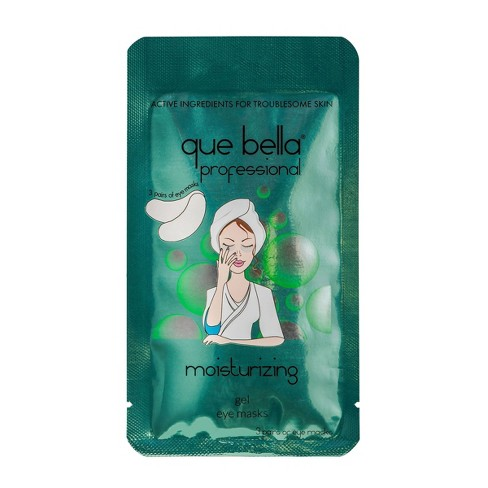 Que Bella Professional Moisturizing Gel Eye Mask - 6pc - image 1 of 3