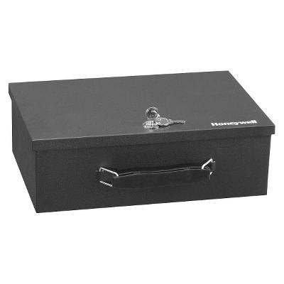 Honeywell Fire Resistant Steel Security Box .17 cu ft - Black