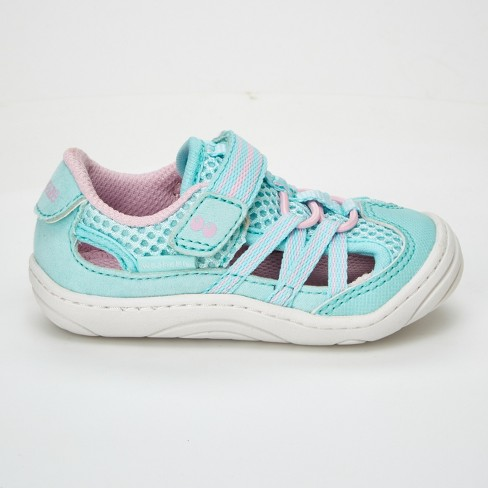 a7f9fb30d Baby Girls' Surprize By Stride Rite Charley Fisherman Sandals - Light Blue/ Pink 4 : Target