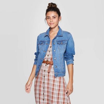Women's Essential Freeborn Denim Jacket   Universal Thread Blue by Universal Thread Blue