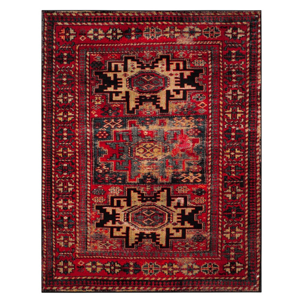 9'X12' Tribal Design Loomed Area Rug Red - Safavieh