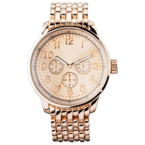 Women's Oversized Boyfriend Watch with Decorative Dials - Rose Gold - Merona™ - image 1 of 1
