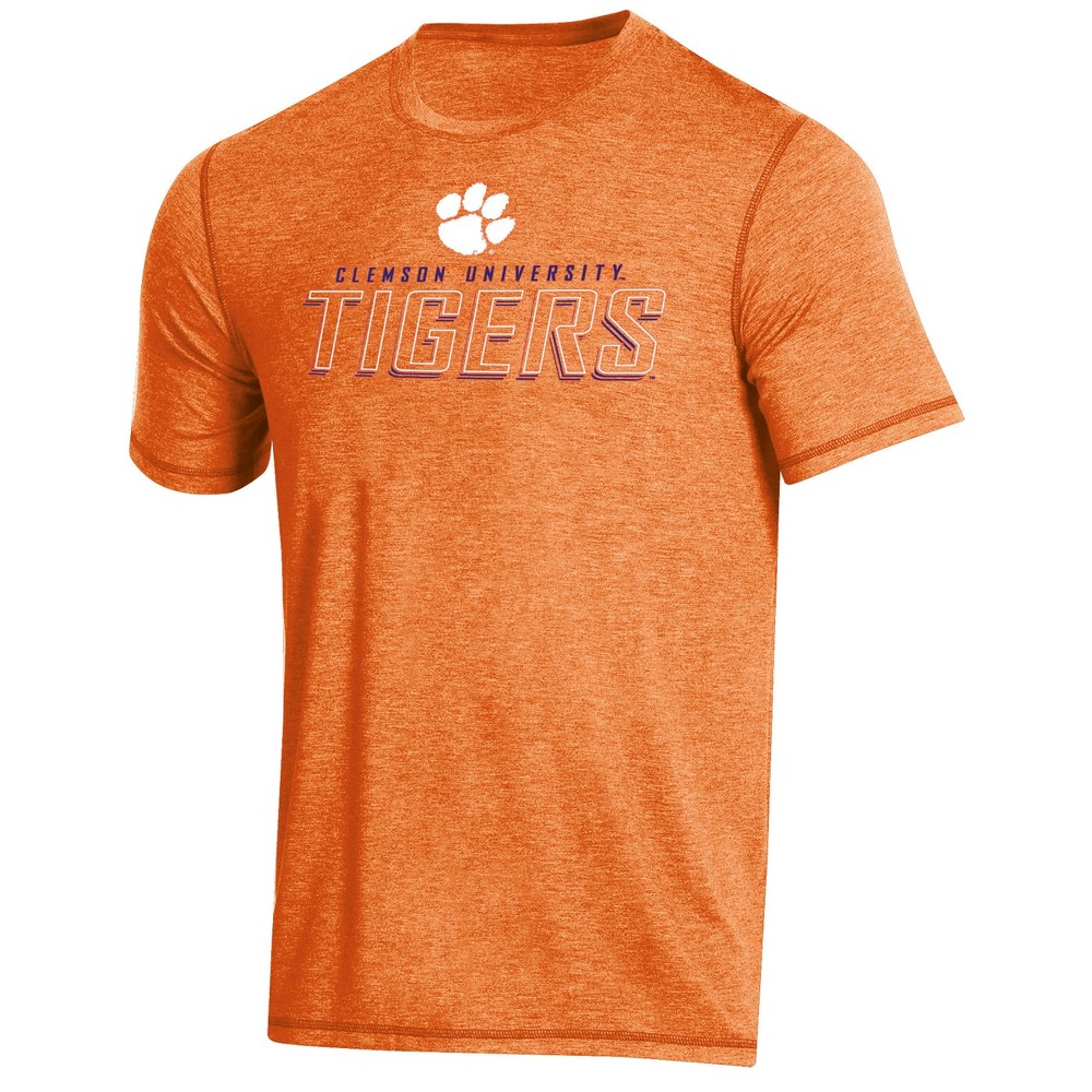 NCAA Men's Short Sleeve Poly T-Shirt Clemson Tigers - S, Multicolored