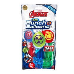 Zuru Marvel Avengers Bunch O Balloons Rapid-Filling Self-Sealing Water Balloons (3 Bunches – 100 Total Water Balloons)