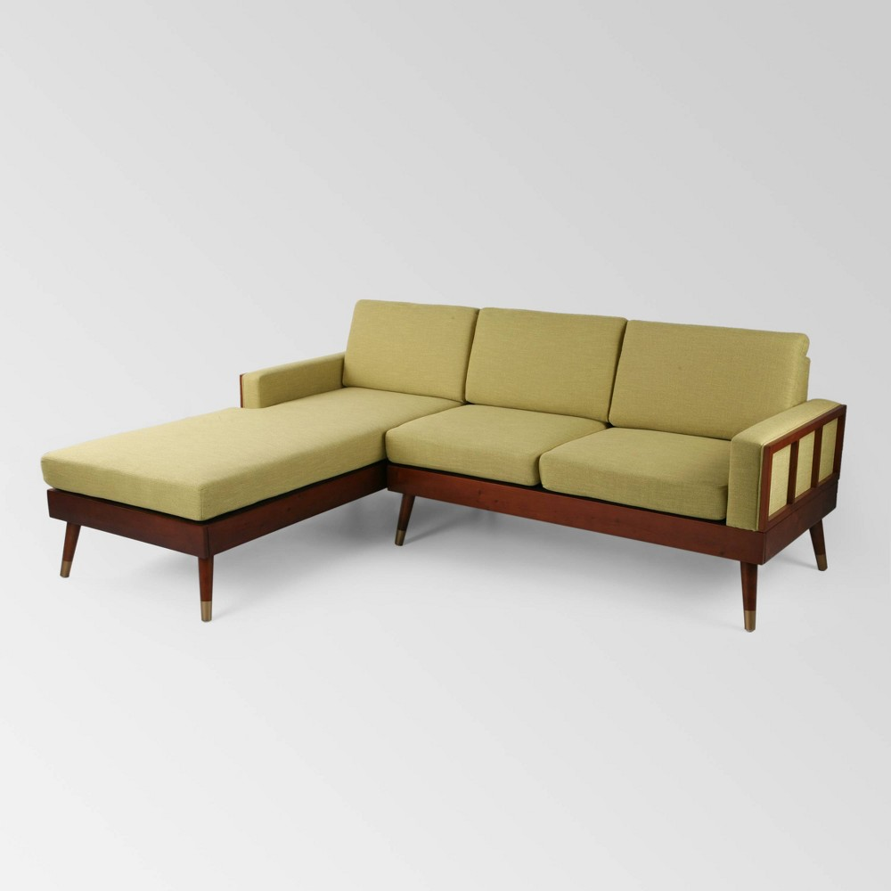 Image of 2pc Arkwright Chaise Sectional Set Yellow - Christopher Knight Home