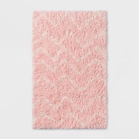 2 6 X4 Chevron Rug Pink Pillowfort