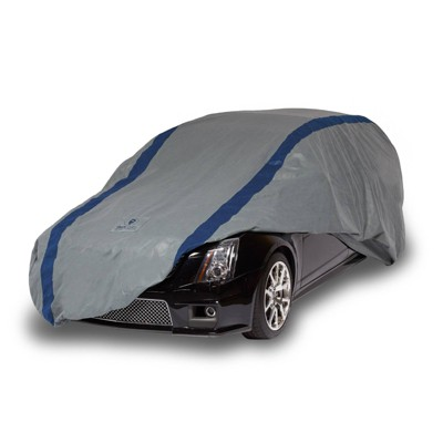 """Duck Covers 16""""x8"""" Weather Defender Station Wagon Automotive Exterior Cover Gray/Blue"""