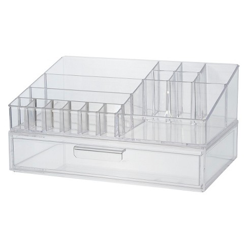 US Acrylic Cosmetic Organizer with Stackable Drawer - image 1 of 2