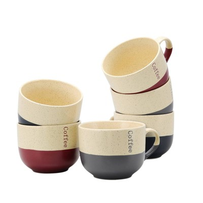 18oz 6pk Stoneware Loft Assorted Latte Mugs - Elama