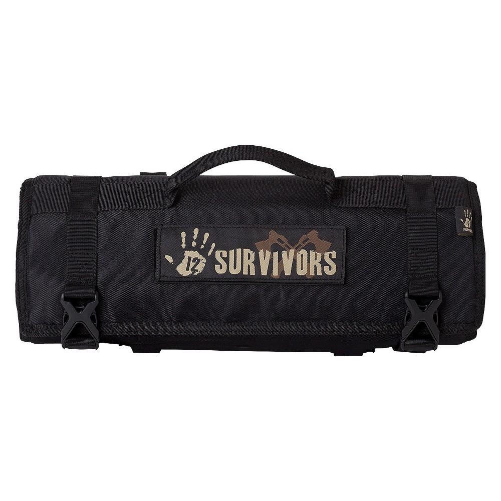 12 Survivors Knife Rollup Kit - Black