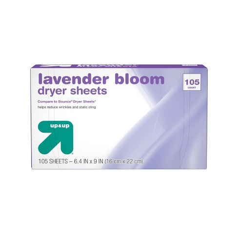 Up&Up™ Fabric Softener Dryer Sheets Lavender - 105ct (Compare to Bounce® Dryer Sheets) - image 1 of 3