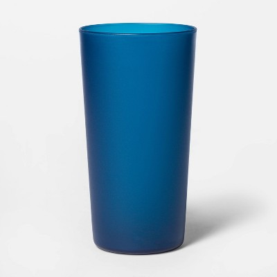 26oz Plastic Tall Translucent Tumbler Blue - Room Essentials™