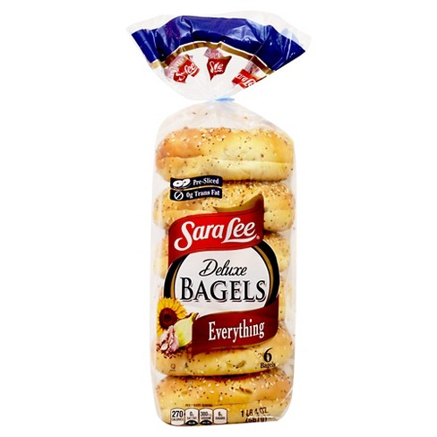 Sara Lee Deluxe Bagels Everything - 6ct/20oz - image 1 of 1