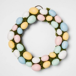"15.5"" Decorative Easter Egg and Vines Wreath Natural - Threshold™"