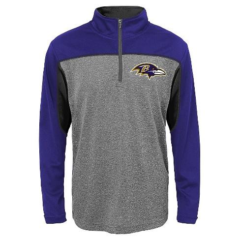 Baltimore Ravens Boys' Quarter Zip-Up Sweatshirt L - image 1 of 1