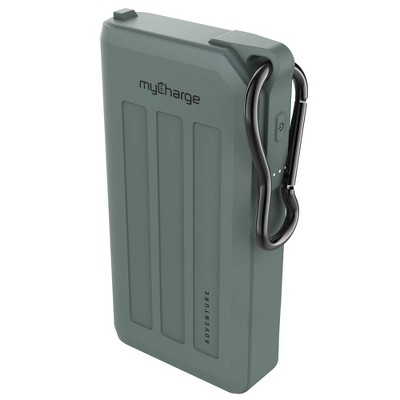 myCharge Adventure H2O Max 15000mAh/2.4A Output  Dual USB-A Port Power Bank - Dark Green
