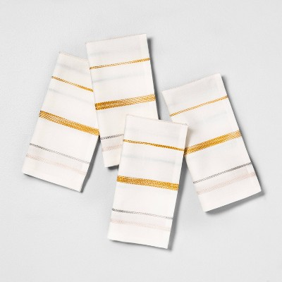 4pk Napkins Stripe Sour Cream Multi Stripe - Hearth & Hand™ with Magnolia