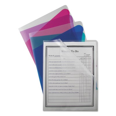 C-Line Project Folders With Dividers Letter 1/3 Tab Clear/Clear 25/PK 62117