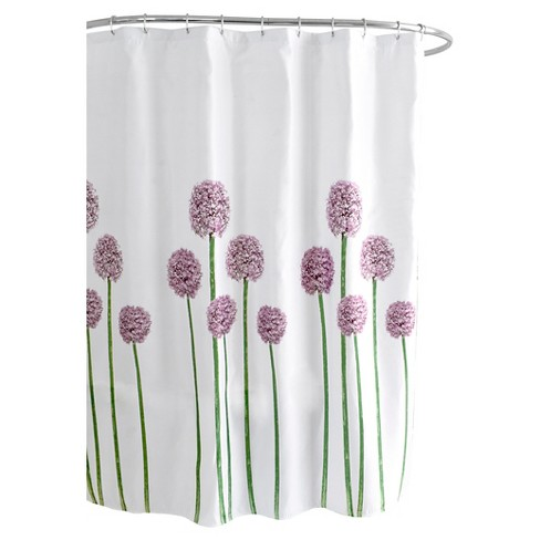 Fabric Floral Shower Curtain