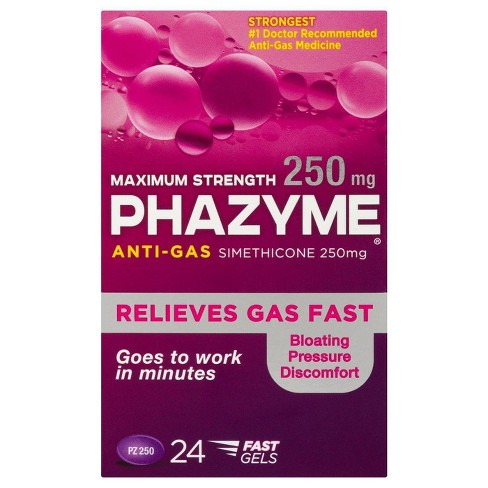 Phazyme Maximum Strength  Anti-Gas 250 mg Fast Gels - 24ct - image 1 of 4
