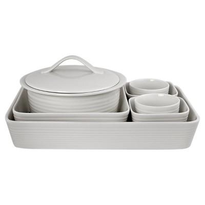Gordon Ramsay By Royal Doulton Maze Bakeware Set 7-pc. White