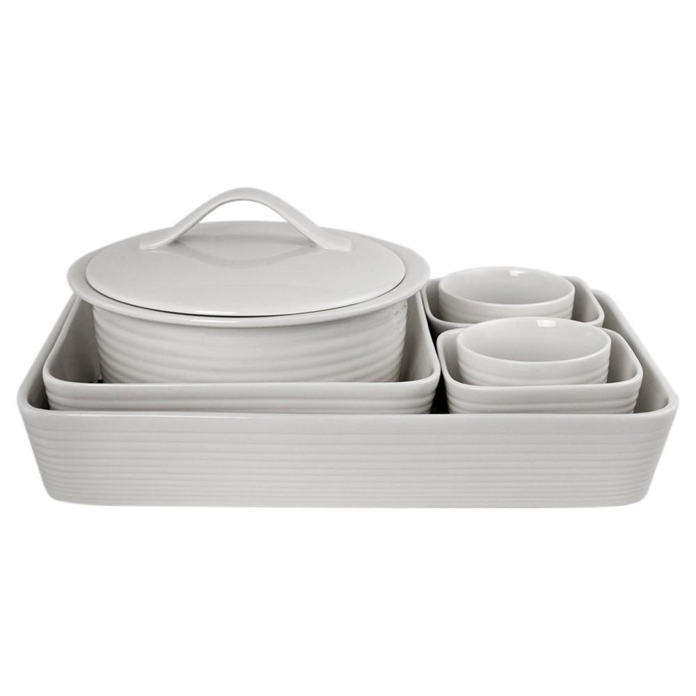 Image of Gordon Ramsay By Royal Doulton Maze Bakeware Set 7-pc. White