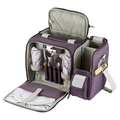 Picnic Time 15pc Malibu Picnic Bag - Purple