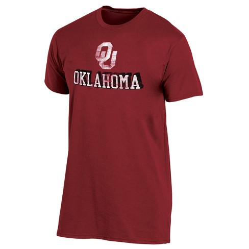 Oklahoma Sooners Men's Short Sleeve Keep the Lights On Bi-Blend Gray Heathered T-Shirt S - image 1 of 2