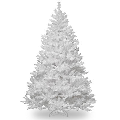 7.5ft National Christmas Tree Company Winchester White Pine Silver Glitter Full Artificial Christmas Tree