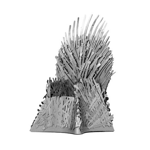 Fascinations Metal Earth ICONX - Game of Thrones Iron Throne 3D Metal Model Kit - image 1 of 3