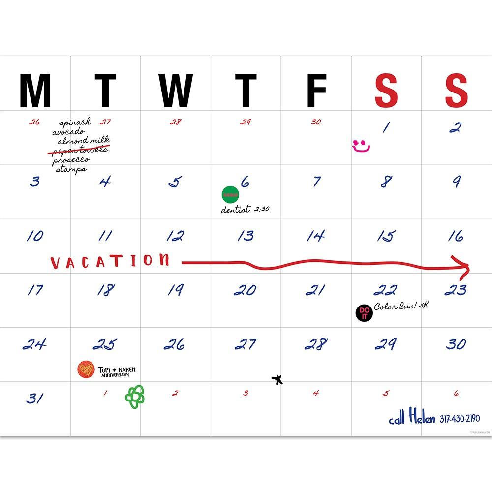 "Image of ""Undated 22"""" x 17"""" Desk Blotter Monthly Calendar"""