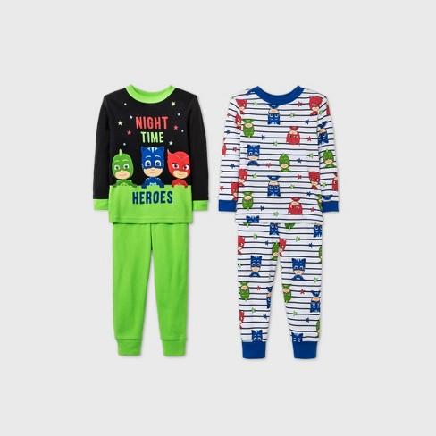 Toddler Boys' 4pc PJ Mask Pajama Set - Green - image 1 of 1