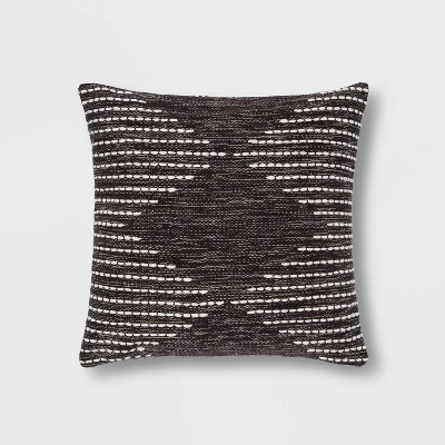 Modern Stitched Square Throw Pillow Gray - Project 62™