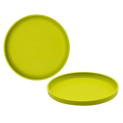 Big Kid's Round Salad Plate 9.6 x9.6  Plastic Lime Green - Pillowfort™