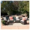 Amaya 4pc All-Weather Wicker Patio Swivel Rocking Chairs - Dark Brown - Christopher Knight Home - image 4 of 4
