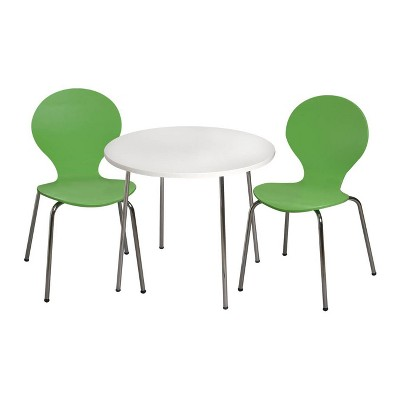 3pc Kids' Table and Chair Set with Chrome Legs - Gift Mark