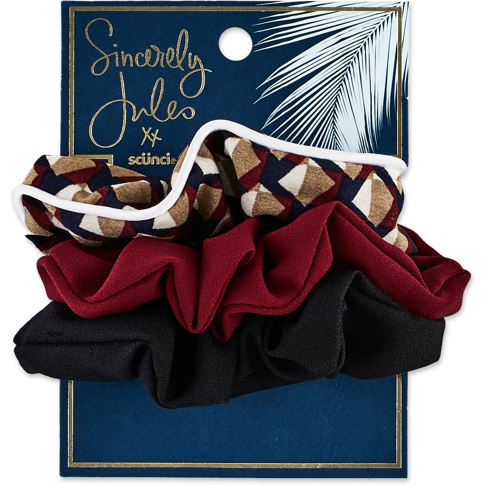 Sincerely Jules by Scünci Printed And Solid Scrunchies - 2pk, Kids Unisex, Multi-Colored