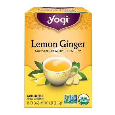 Yogi Tea Lemon Ginger Tea Bags - 16ct