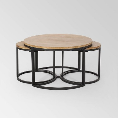 3pc Gerrish Modern Industrial Table Set - Christopher Knight Home