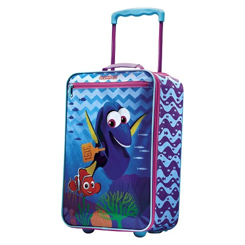 "American Tourister Disney Finding Dory  Softside Carry On Suitcase - Turquoise/Pink (18"") - image 1 of 6"