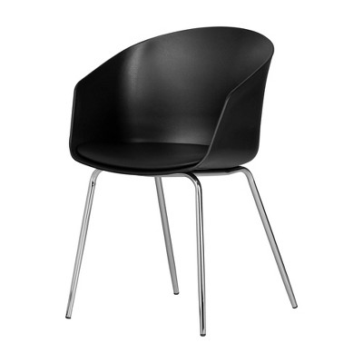 Flam Chair with Silver Metal Legs - South Shore
