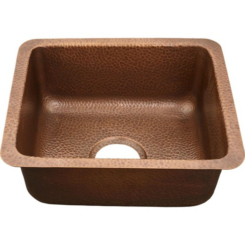 "Thompson Traders KPU-1715HA-F Chatham 17"" Single Basin Drop-In or Undermount Copper Bar Sink - image 1 of 1"