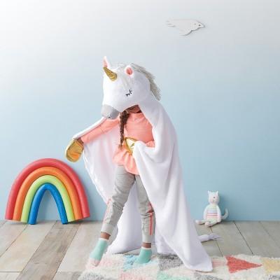 Unicorn Hooded Blanket - Pillowfort™