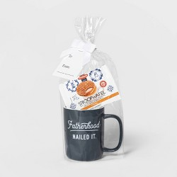 14oz Stoneware Fatherhood Nailed It Traveler Mug with Stroopwafel Blue - Threshold™