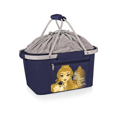 Picnic Time Disney Beauty & the Beast Metro Basket Collapsible Cooler Tote - Navy Blue