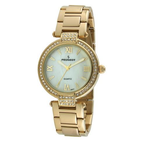 Peugeot Women's Gold Tone Crystal Bezel Watch - image 1 of 2