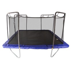 Skywalker Trampolines 15 Foot Square Trampoline and Enclosure - Blue