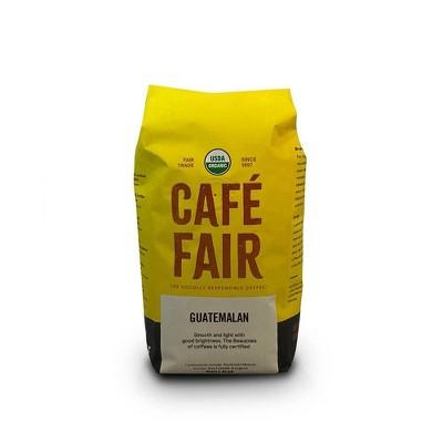 Cafe Fair Guatemalan Organic Shade Grown Light Roast Whole Bean Coffee - 12oz