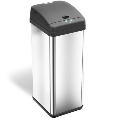 halo quality 13gal Rectangular Stainless Steel Sensor Trash Can